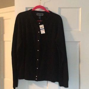 NWT Karen Scott black cardigan sz XL